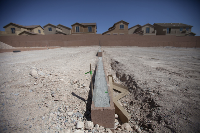 A homes at Lantern Gardens by Lennar  Homes on Desert Inn Road and Tenaya Way as seen Wednesday, April 23, 2014. The homes range from 1,670 to 4966 square feet. Nationwide  new home sales unexpect ...
