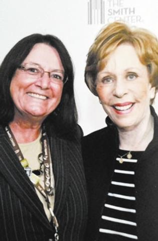 Claudia Newbury with Carol Burnett.