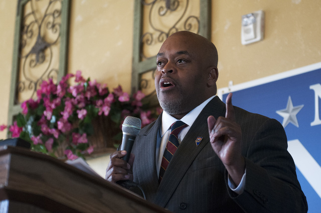 Republican candidate for Congress Niger Innis says confronting racism is real leadership, not simply condemning it (Erik Verduzco/Las Vegas Review-Journal File)