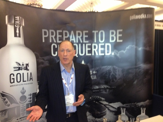 David Solomon, founder of Golia Vodka, is seen at Wine & Spirits Wholesalers of America's 71st annual convention at the Caesars Palace. (Alan Snel/Las Vegas Review-Journal)