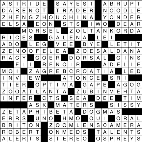 picture relating to Thomas Joseph Printable Crossword named Galena for one particular crossword