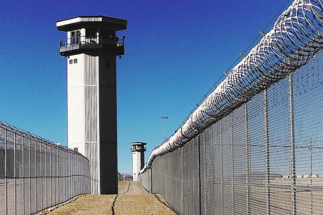 High Desert Prison near Indian Springs is shown in this file photo. (File, Gary Thompson/Las Vegas Review-Journal)