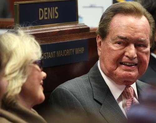 Retired Sen. Bill Raggio was inducted into the Nevada Senate Hall of Fame on April 19, 2011, at the Legislature in Carson City. Lawmakers honored Raggio during a ceremony on the Senate floor. Ragg ...