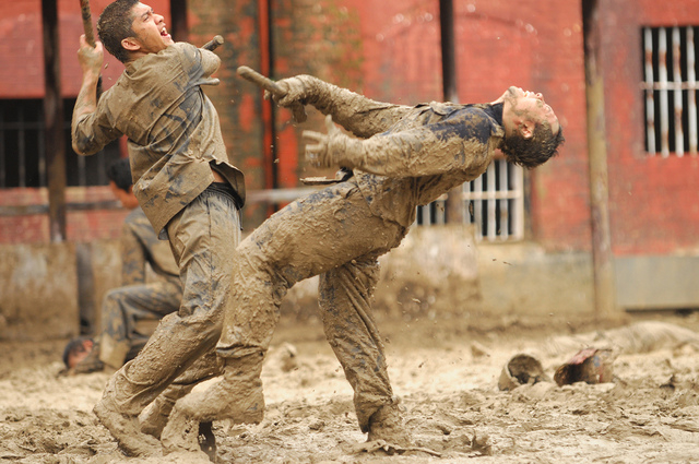 "Iko Uwais stars as Rama, left, in ""The Raid 2."" (Akhirwan Nurhaidir and Gumilar Triyoga/Sony Pictures Classics)"
