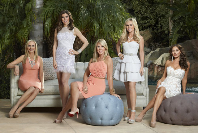 """From left, Shannon Beador, Heather Dubrow, Vicki Gunvalson, Tamra Barney and Elizabeth """"Lizzie"""" Rovsek star in the ninth season of Bravo's """"The Real Housewives of Orange County."""" (Rudy Martinez/Bravo)"""