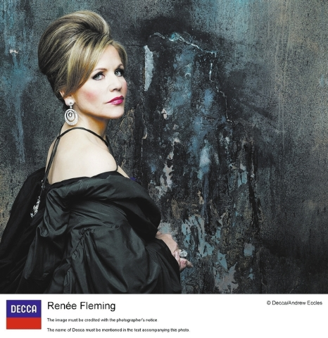 """Soprano Renee Fleming makes her Smith Center debut Thursday with """"Guilty Pleasures. Courtesy photo. Photo credit: Andrew Eccles."""