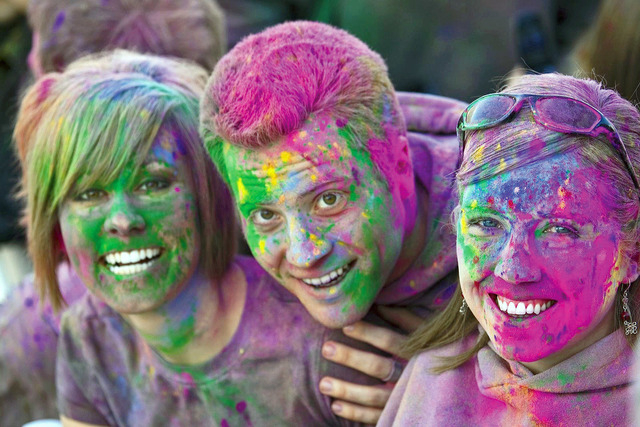 contributed Throw your cares and your colors to the wind at the Holi Festival of Colors Las Vegas, which will feature live music, food and fun for all ages.