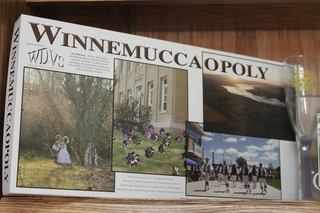 A picture of Winnemuccaopoly, a game made by the visitor's center as a promotional tour from the city and Humboldt County. (Courtesy/Hal Goldblatt)