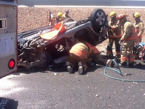 Accident causes traffic delays on US 95 near Summerlin