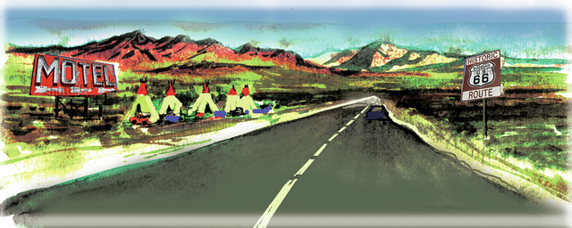 Thousands of tourists annually make road trips along remaining portions of fabled Route 66. (MIKE MILLER/SPECIAL TO THE LAS VEGAS REVIEW-JOURNAL)