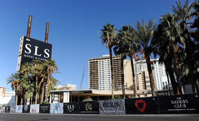 Operators of the new SLS Las Vegas, formerly the Sahara, began accepting hotel room reservations Tuesday.  (David Becker/Las Vegas Review-Journal)