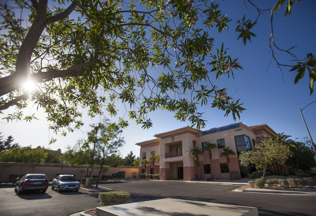 Beacon Academy of Nevada at 7360 W. Flamingo as seen Thursday, April 24, 2014.  The charter school serves at-risk high school students. The academy will plead its case for reaccreditation before t ...