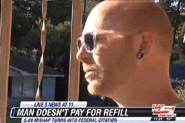 South Carolina man Christopher Lewis was fined $525 for refilling his an 89-cent soda at Veterans Affairs hospital without paying. The fine has since been dropped and Lewis is getting off with a w ...