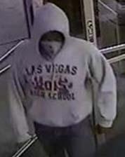 Suspect 3 is described as a black male, 17-22 years old, between 5 feet 10 inches and 6 feet in height and weighing 165-180 lbs. (Courtesy of Las Vegas Metropolitan Police Department)