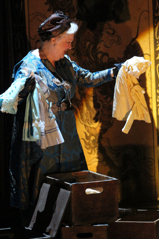 """Gonzala (Dawn Didawick) performs in"""" The Tempest"""" at The Smith Center for the Performing Arts on Friday. (K.M. Cannon/Las Vegas Review-Journal)"""