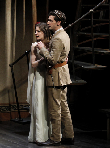 """Actors Charlotte Graham and Joby Earle perform during """"The Tempest"""" at The Smith Center for the Performing Arts on Friday. (Jason Bean/Las Vegas Review-Journal)"""