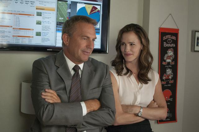 "Kevin Costner and Jennifer Garner star in ""Draft Day."" (Dale Robinette/Summit Entertainment)"