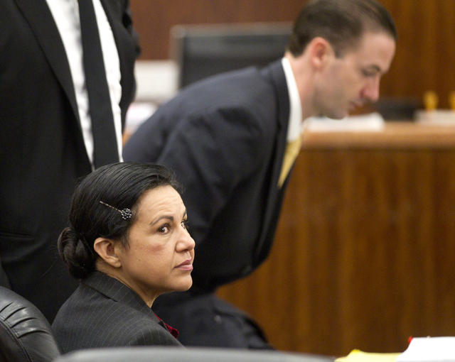 A jury convicted Ana Trujillo of murder Tuesday, April 8, 2014, for fatally stabbing her boyfriend with the 5½-inch stiletto heel of her shoe. (AP file Photo/Houston Chronicle, Brett Coomer)