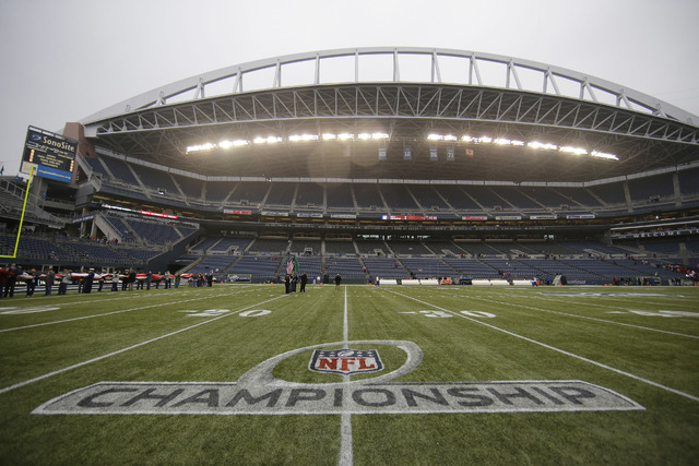 CenturyLink Field is seen before the NFL football NFC Championship game between the Seattle Seahawks and the San Francisco 49ers on Jan. 19 in Seattle. (AP Photo/Matt Slocum)
