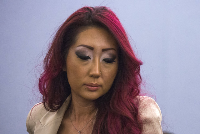 Gloria Eun Hye Lee, shown in Clark County Justice Court on Feb. 5, faces arson, conspiracy, burglary and attempted animal cruelty charges in connection with a Jan. 27 fire at her business, Prince  ...