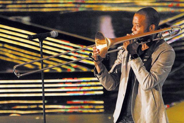 Trombone Shorty is a brass act who will horn in on Las Vegas Tuesday through Thursday. (AP Photo/Bill Haber)
