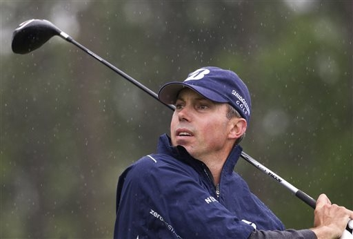 Matt Kuchar, shown Sunday at the Houston Open, has drawn a lot of attention from Masters wagerers at 12-1 odds, making him one of the larger liabilities for the books. (AP Photo/Patric Schneider)