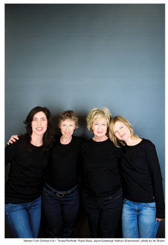 Women Fully Clothed (Teresa Pavlinek, left, Robin Duke, Jayne Eastwood and Kathryn Greenwood) return to The Smith Center Friday for more sketch comedy and songs. Photo credit: Ian Brown. Courtesy  ...