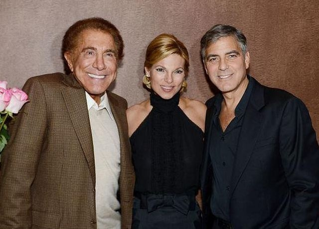 George Clooney, right, shown last year at Wynn Las Vegas promoting his Casamigos tequila with Steve and Andrea Wynn, reportedly took issue with Steve Wynn's comments about President Barack Obama.  ...