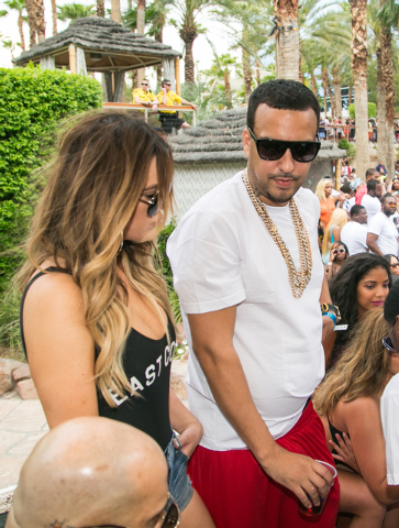 Khloe Kardashian with French Montana (Courtesy photos by Joey Ungerer/Hard Rock Hotel)