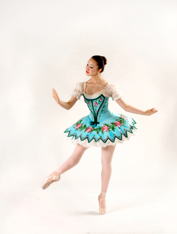 "Nevada Ballet Theatre dancer Samantha Chang in costume for ""Coppelia."" Photo credit: Virginia Trudeau. Courtesy photo."