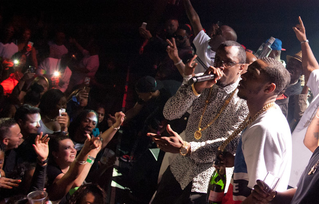 Puff Daddy performed a boxing after party Saturday in the Hard Rock Hotel. (Courtesy photos Patrick Gray/Erik Kabik Photography.)
