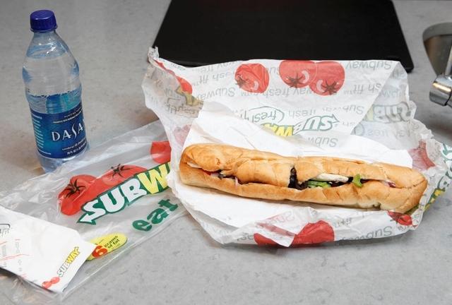 Subway sandwich (AP Photo/Seth Wenig)