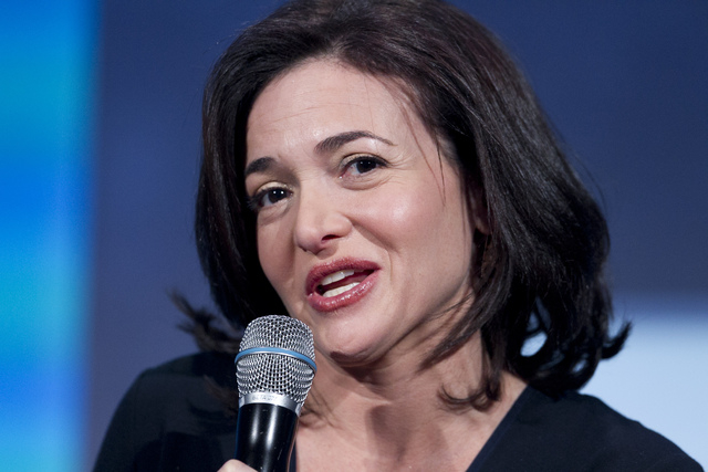 FILE - In this Sept. 24, 2013, file photo, Sheryl Sandberg, the Chief Operating Officer of Facebook, speaks at the Clinton Global Initiative in New York. Sandberg says the key to tapping into the  ...