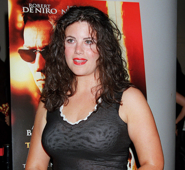 "In this July 11, 2001, file photo, Monica Lewinsky arrives for a special screening of ""The Score"" in New York. Lewinsky says there's no question her boss, Bill Clinton, ""took advantage"" of her whe ..."