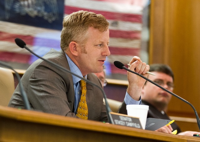 Republican state Sen. Stacey Campfield of Knoxville, shown in this May 16, 2013, file photo, was criticized by leaders of both the Republican and Democratic parties in Tennessee on Monday, May 5,  ...