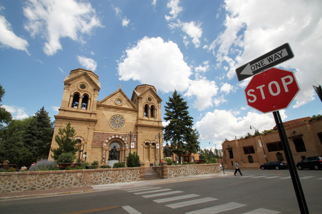 This July 14, 2010 image shows St. Francis Cathedral, one of many historic churches and missions in Santa Fe, N.M. Aside from being one of the citys most photographed landmarks, Pope Benedict XVI  ...