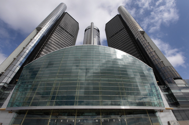 This Friday, May 16 2014 photo shows General Motors' world headquarters in Detroit. U.S. safety regulators fined General Motors a record $35 million Friday for taking at least a decade to disclose ...