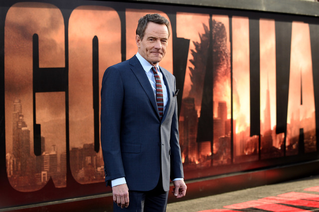 "Bryan Cranston at the premiere of ""Godzilla"" in Los Angeles. Cranston plays a nuclear scientist who becomes obsessed with the cause of a 1999 destruction of a nuclear power plant.   (Photo by Jord ..."