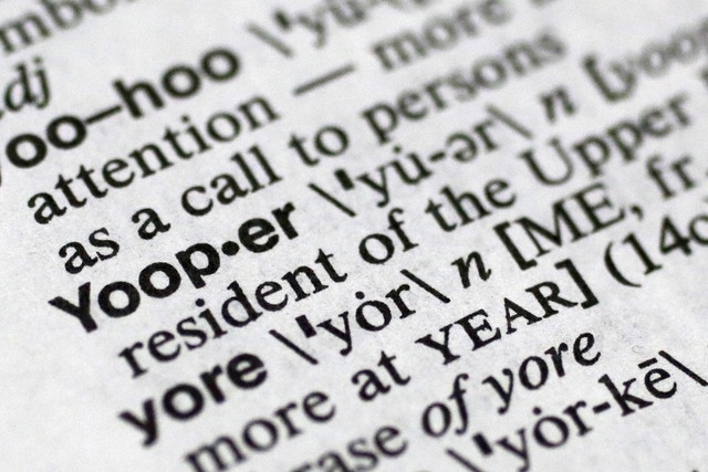 In This May 15 2014 Photo Yooper One Of The 150 New Words