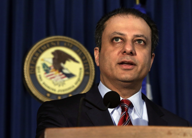 Preet Bharara, U.S. Attorney for the Southern District of New York, discusses arrests in the malware BlackShades Remote Access Too, during a news conference in New York, Monday, May 19, 2014. More ...