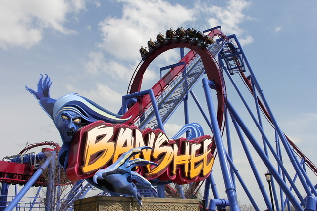 This undated image provided by Kings Island amusement park in Kings Island, Ohio, near Cincinnati, shows the recently opened Banshee roller coaster. Its named for a wailing mythological messenger  ...