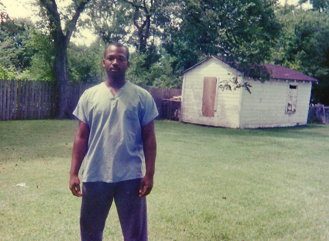 This 1990 photo provided by Curtis Griffin of his step-son Bradley Ballard shows Ballard in Houston when he was 16.  In September of 2014, 39-year-old Ballard, who was mentally ill and an inmate a ...