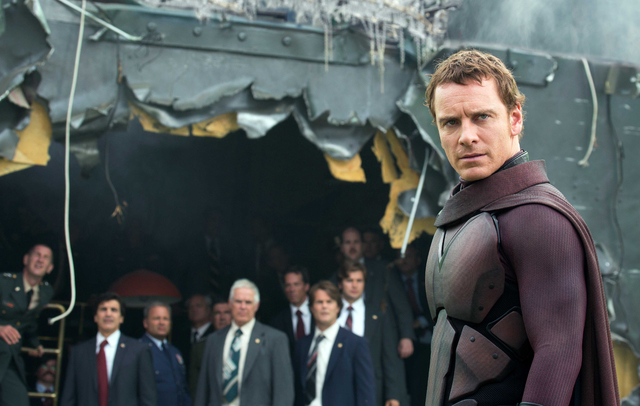 """This image released by 20th Century Fox shows Michael Fassbender in the film, """"X-Men: Days of Future Past."""" (AP Photo/20th Century Fox, Alan Markfield)"""