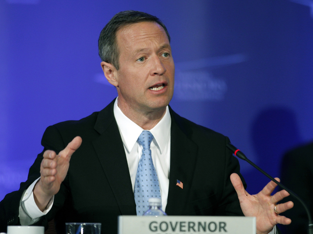 Maryland Gov. Martin O'Malley speaks at the Special Committee on Homeland Security and Public Safety panel during the National Governors Association winter meeting in Washington in this Feb. 26, 2 ...