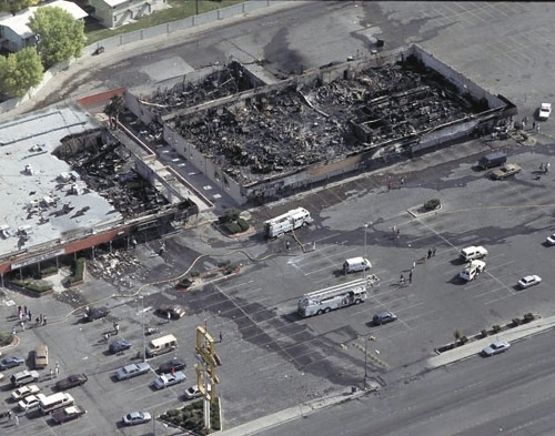 Nucleus Plaza was torched in 1992 in the aftermath of the Rodney King riots in West Las Vegas. (Review-Journal File)