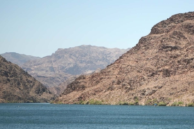 A 12-year-old boy is in critical condition after nearly drowning at Cottonwood Cove on Lake Mohave. (John Locher/Las Vegas Review-Journal)