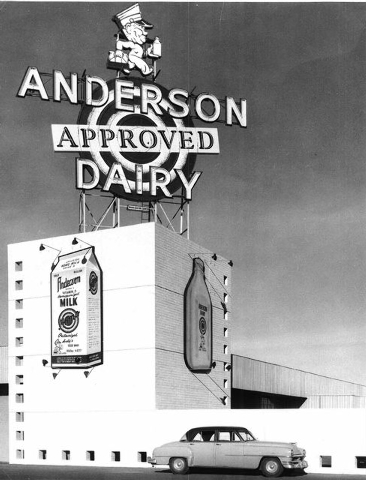 Anderson Dairy is flanked by streets named for people connected to the dairy's history. (Special to View)