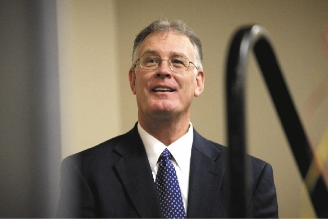 Henderson Mayor Andy Hafen's standing in office is being challenged by former mayoral candidate Rick Workman. (Las Vegas Review-Journal file)