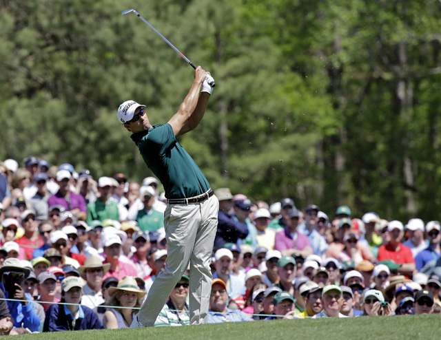 Adam Scott has a chance to unseat idle Tiger Woods as the world's No. 1 player at the Players Championship this weekend at Ponte Vedra Beach, Fla. (AP Photo/David J. Phillip)