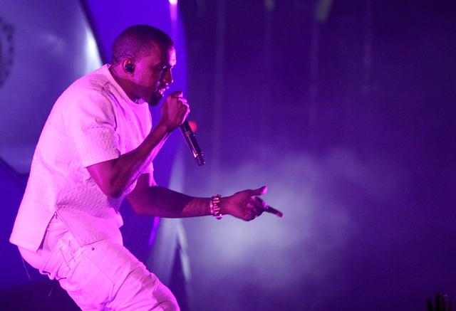 Kanye West performs at the BET Awards in Los Angeles in this file photo. This year's Bonnaroo Music and Arts Festival lineup includes West and Elton John. The four-day event begins June 12 in Manc ...